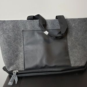 DSW Exclusive Gray Felt Tote